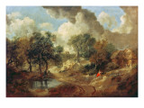 Suffolk Landscape, 1748 Giclee Print by Thomas Gainsborough
