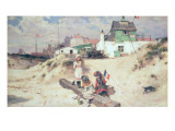 Beach Scene in Ostend Giclee Print by William Stephen Coleman