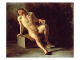 Study of a Nude Man Giclee Print by Theodore Gericault