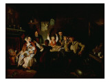 The Game of Draughts Reproduction procédé giclée par William Henry Knight