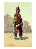 Bugler of the Cavalry Premium Giclee Print by Frederic Sackrider Remington