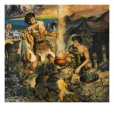 Esau Sells His Birthright Giclee Print by Harry G. Seabright