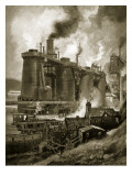 Blast Furnaces of the Period Giclee Print by Charles John De Lacy