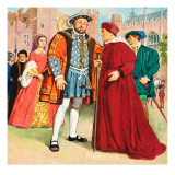 Thomas Wolsey and Henry Viii Giclee Print by Clive Uptton