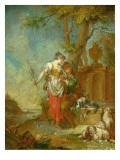 Shepherd and Shepherdess Giclee Print by Januarius Zick