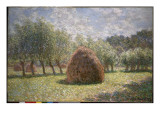 Haystacks at Giverny, 1893 Giclee Print by Claude Monet