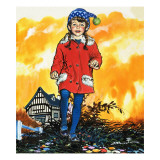 Girl in a Bobble Hat Giclee Print by Jesus Blasco