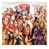 California Gold Rush Giclee Print by C.l. Doughty