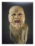 Old Man Mask, Noh Theatre, Giclee Print