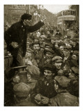Politics in Battersea, 1910 Giclee Print by Cyrus Cuneo