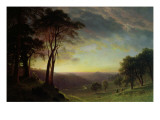 The Sacramento River Valley Giclee Print by Albert Bierstadt