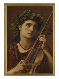Music, Heavenly Maid, 1889 Giclee Print by Edward John Poynter