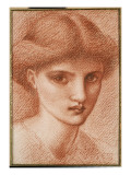 Study of a Girl's Head Giclee Print by Edward Burne-Jones
