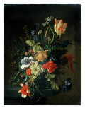 Still Life of Flowers Giclee Print by Elias Van Den Broeck