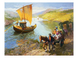 The Grape-Pickers of Portugal Premium Giclee Print by  Syde
