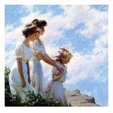 On the Cliff, 1910 Giclee Print by Charles Courtney Curran