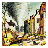 Tornado in Lancashire Giclee Print by  English School