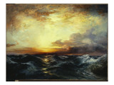 Pacific Sunset, 1907 Premium Giclee Print by  Moran