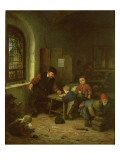 The Interior of a Schoolroom Giclee Print by Adriaen Jansz. Van Ostade