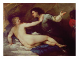 Lucretia and Tarquin Giclee Print by Luca Giordano