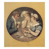 A Game of Cribbage, 1818 Giclee Print by  Rowlandson
