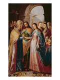 The Marriage of Mary and Joseph Giclee Print by  Mexican School