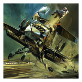 The Jinxed Jump-Jet Giclee Print by Gerry Wood