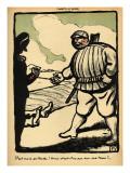 A Landowner Kills a Tramp Giclee Print by Félix Vallotton