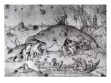 Big Fishes Eat Small Ones, 1556 Lmina gicle por Pieter Bruegel the Elder
