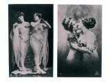 Two Women Embracing Giclée-tryk af French Photographer