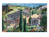 The Temple of Apollo at Delphi Giclee Print by Giovanni Ruggero