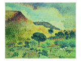 The Maures Mountains, 1906-07 Giclee Print by Henri Edmond Cross