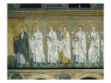 Group of Saints and Martyrs Giclee Print by  Byzantine School