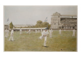 Cricket at Lords, 1896 Reproduction procédé giclée par William Barnes Wollen