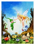 The Rainbow Pixie Giclee Print by Jose Ortiz