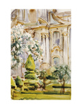 Palace and Gardens, Spain, 1912 Giclee Print by John Singer Sargent