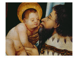 Melchior Kisses the Infant Jesus Giclee Print by  German School