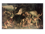 The Flight into Egypt Giclee Print by Jacopo Bassano