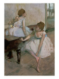 Two Dancers Resting, 1874 Giclee Print by Edgar Degas