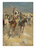 Charging Indians on Horseback Giclee Print by Derek Charles Eyles