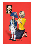 Dressing Up as Nelson Giclee Print by Jesus Blasco