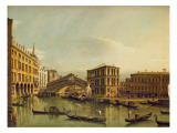 The Grand Canal, Venice Giclee Print by Bernardo Bellotto