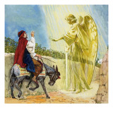 The Angel in the Path Giclee Print by Clive Uptton