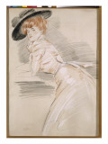 Madame Helleu in a Hat Giclee Print by Paul César Helleu
