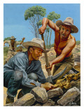 Gold Prospectors Giclee Print by Payne 