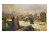 England's Welcome to Henry V Giclee Print by Robert Alexander Hillingford
