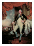 Portrait of George Iii Lmina gicle por Mather Brown