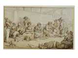 The Fish Market, Grimsby Giclee Print by  Rowlandson