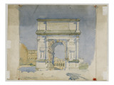 Arch of Titus, Rome, 1891 Reproduction proc&#233;d&#233; gicl&#233;e par Charles Rennie Mackintosh