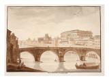 Ponte Sisto, 1833 Giclee Print by Agostino Tofanelli